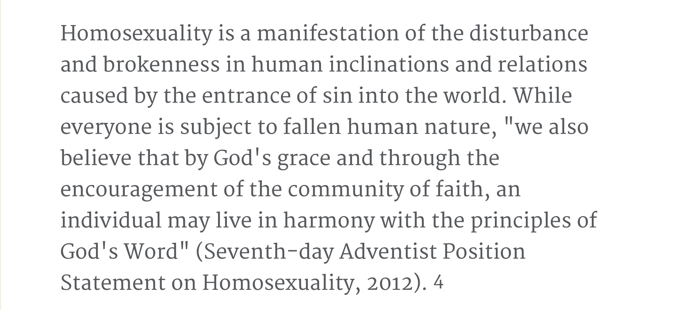 Sda beliefs on homosexuality and christianity
