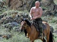 Vladimir Putin on horseback