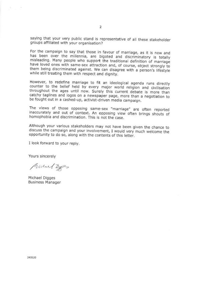 Catholic letter page 2