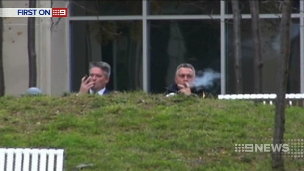 Joe Hockey cigar