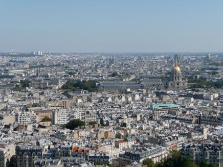 Views from the Eiffel Tower towards Musée de l'Armée