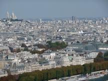 Views from the Eiffel Tower towards Sacré-Cœur Basilica