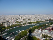 Views from the Eiffel Tower towards Passerelle Debilly