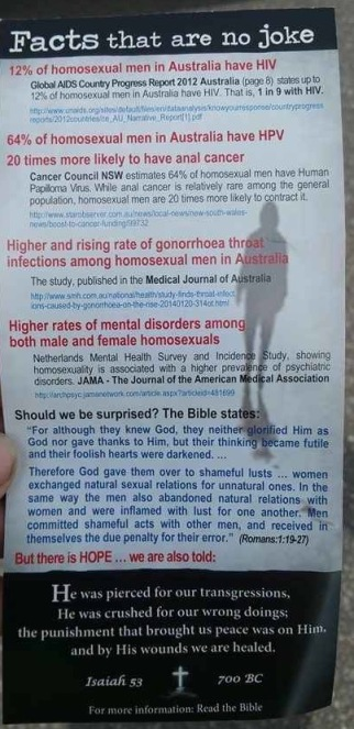 Joker Anti-gay Flyer Page 2