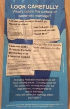 Marriage Anti-gay Flyer