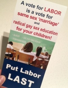 Labor Anti-gay Flyer