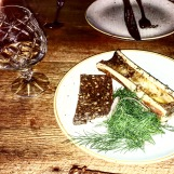 Wagyu bone marrow with rye and Aquavit