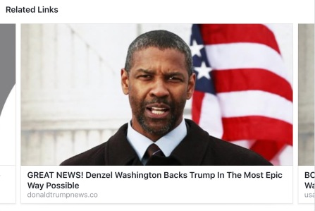 Denzel Washington hoax