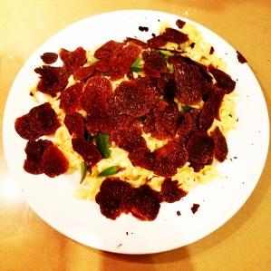 Pasta with black truffle