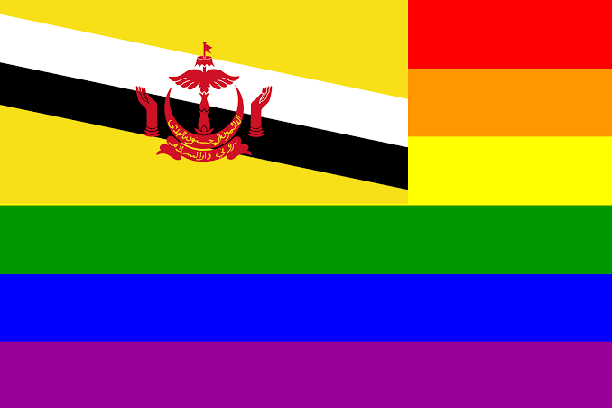 Brunei Rainbow Flag